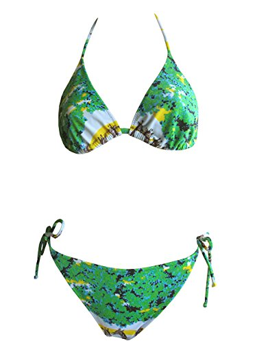 La Perla Oceano by Neckholder-Bikini 011_42 in grün/gelb, Gr. 42 B-Cup