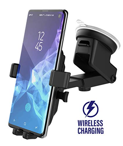 Encased Wireless Charging Car Charger Mount for Samsung Galaxy S10, S10 Plus, S10e/Note 10 (Qi Enabled) Fast Charging Vehicle Phone Holder Charger (Dashboard/Windshield Compatible)