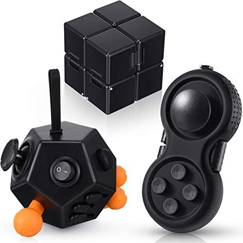 3 Pieces Handheld Mini Fidget Toy Set Anxiety and Stress Relief Fidget Toy 12 Side Fidget Toy product image