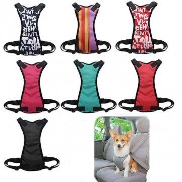 Pakhuis Large Size Einstellbare Haustier Fahrzeugsicherheit Brustgurt - Letter Red