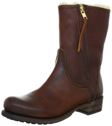 Blackstone Damen EW74 Hohe Stiefel, Braun (Old Yellow), 41 EU