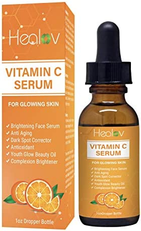Vitamin C Serum for Glowing Skin 1oz Dropper Bottle Cleansing Face Serum Anti Aging Spot Corrector product image