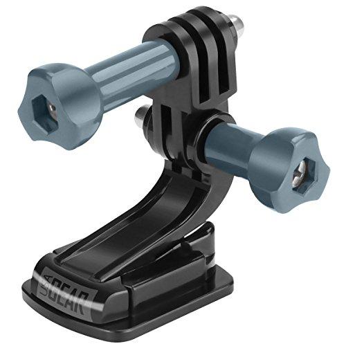 USA Gear Soporte de cámara de acción Plana con Almohadilla Adhesiva: Compatible con GoPro, Hero5 Black/Session, YI 4K, Pictek, VicTsing, AKASO EK7000 y más