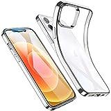 ESR Klar Silikon Hülle Kompatibel mit iPhone 12 Mini Transparente Polymer Hülle Silberner Rahmen