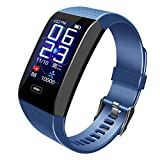 QinMM Smartwatch Fitness Tracker Android iOS Impermeable IP68 Hombre Mujer niños Smart Watch Reloj pulsómetro de muñeca Pulsera Deporte podómetro cronómetro para iPhone Samsung Huawei