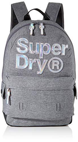 Superdry Damen Holo Infill Montana Rucksack Grau (Grey Marl)