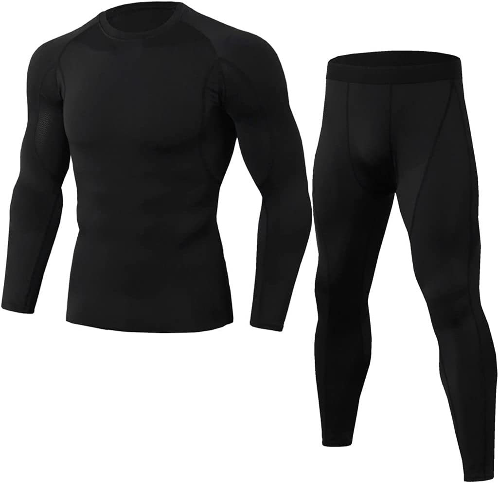 ZSQAW Winter MenThermal Underwear Comfortable and Breathable Basic Layer Thermal Underwear Sports (Color : B, Size : XXXL Code)