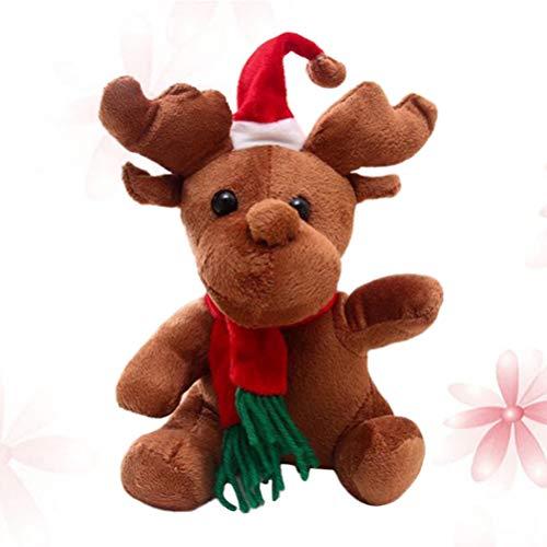 Tomaibaby Muñeco de Peluche de Navidad de Juguete Reno Musical de Peluche de Juguete de Peluche con Canciones Cantando Muñeco de Navidad de Peluche de 20 Cm