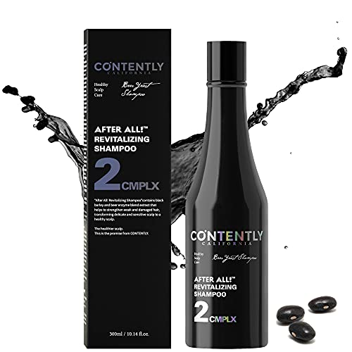 AFTER ALL! Revitalizing Shampoo - For All Hair types   Scalp & Hair Therapy Shampoo with Beer Yeast, Collagen, Biotin & Probiotics, I Sulfate-Free, Paraben-Free, Silicone-Free   10.14 fl.oz