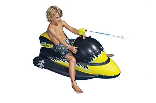 Laser Shark Wet Ski Squirter Pool Float Toy