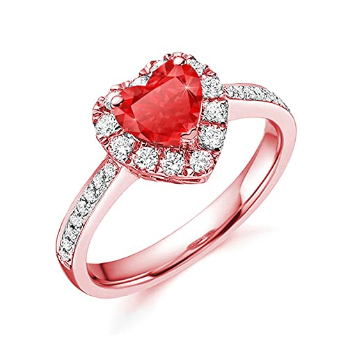 Women Rings - Diamond Zircon Love Heart Ring, YJYdada Fashion Exquisite...