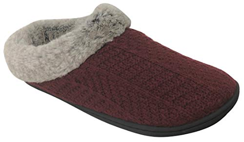Dearfoams Women's Sweater Knit Clog Memory Foam Slipper...