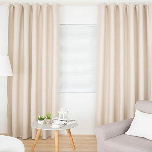 Nileco volledige kleur verduisterende gordijnen, kort gordijn isolatie geluidsdicht voor woonkamer slaapkamer gordijnen eenvoudige panelen 1 Pc-lichtgeel W270 * h180 cm (106 * 70inch)