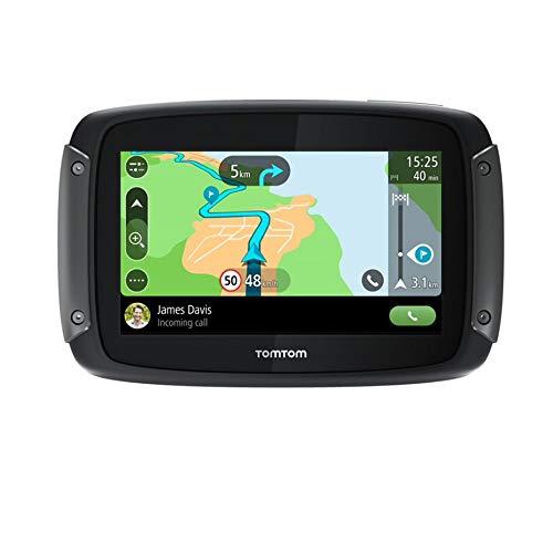 TomTom Rider 50 Navigatore Satellitare per Moto, Mappe Europa 24 Paesi, Percorsi Tortuosi e Collinari Dedicati alle Moto, Aggiornamenti tramite Wi-Fi, Siri e Google Now, 3 Mesi di Tutor e Autovelox