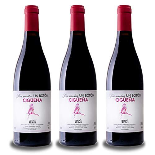 Vino del Bierzo CIGÜEÑA Mencia 2018 (3 bot x 75 cl.) - Mencia vino tinto del Bierzo 6 meses envejecdido en barricas