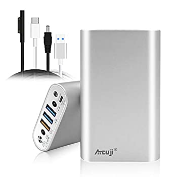 Atcuji 98SP 26800mAh External Battery with 140W Power Delivery for Surface Book 2 Laptop Power Bank Surface Pro X 7 6 5 4 3 2 Go iPhone iPad Samsung Galaxy Portable Charger Google Pixel  TSA Approved