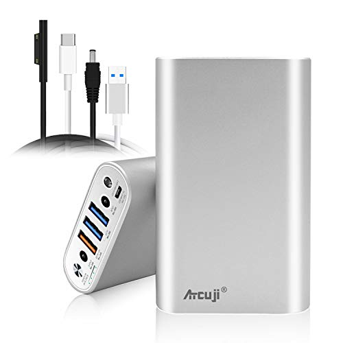 Atcuji 98SP 26800mAh External Battery with 140W Power Delivery for Surface Book 2 Laptop Power Bank Surface Pro X 7 6 5 4 3 2 Go iPhone iPad Samsung Galaxy Portable Charger Google Pixel (TSA Approved)