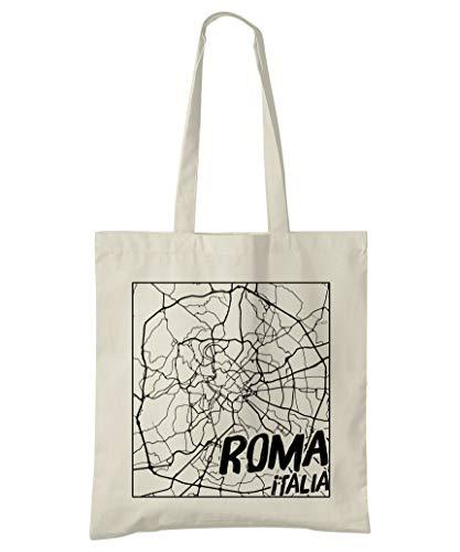 Super Cool Totes Rom, Italien, Stadtplan Einkaufstasche (Design 3)