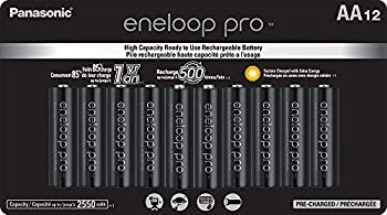 Panasonic BK-3HCCA12FA eneloop Pro AA High Capacity Ni-MH Pre-Charged Rechargeable Batteries 12 Pack