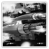 Impresionantes pegatinas cuadradas (juego de 2) 7,5 cm BW - Ingeniero de fibra óptica de cable Tech Fun Decals para portátiles, tabletas, equipaje, reserva de chatarras, frigoríficos, regalo genial #35395