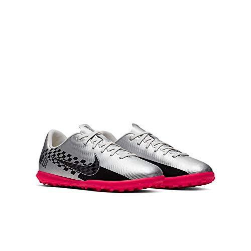 Nike Unisex-Kinder Mercurial Vapor 13 Club Neymar Jr. Tf Fußballschuhe, Mehrfarbig (Chrome/Black/Red Orbit/Platinum Tint 6), 32 EU