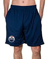 Calhoun NHL Men's Team Logo Air Mesh Shorts (Edmonton Oilers, Small)