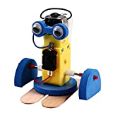 GRASARY Walk Robot Electric Experiment Juguete de plástico DIY Electric Walking Robot Modelo para la escuela, Perfect Child Intellectual Toy Set de regalo Azul
