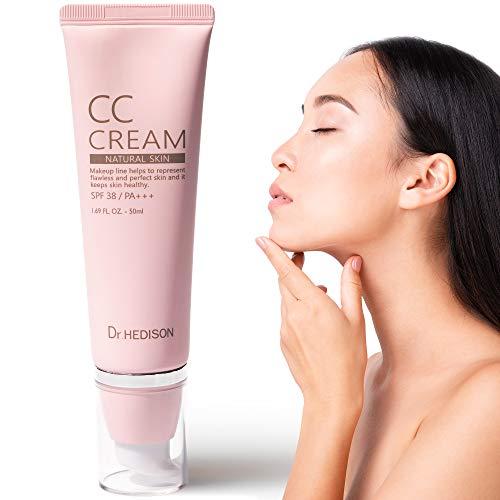 Crema CC Cream - Producto Premium - Crema Coreana - Hidratante - Factor Protector Solar Facial - Prebase Maquillaje - Unificante - Base Maquillaje Piel Grasa - Protector Facial - Hidratante Con Color