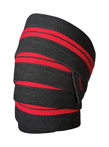 """Harbinger RED line KNEE wraps standard La lunghezza estesa di 78"""" Offre l'intero S di tensione per l'avvolgimento e il posizionamento del ginocchio Fornisce il massimo supporto durante la formazione Il materiale altamente elastico di qualità competit..."""