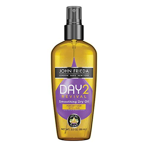 John Frieda Day 2 Revival Smoothing Dry Oil, 3 Ounces, Moisturizing Dry Oil Blend, with Acai and Avocado Dry Oil