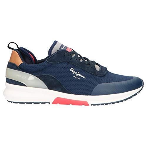 Pepe Jeans London Nº22 M, Zapatillas Hombre, Azul (Navy 595), 43 EU