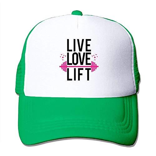 uykjuykj Baseball Caps Hats Unisex-Adult Live Love Lift Casual Sporting Cap Hat Black Adjustable Unique Personality Cap