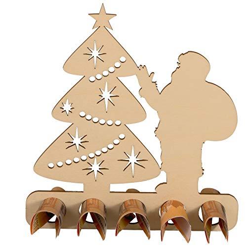 Spruchreif PREMIUM QUALITÄT 100% EMOTIONAL · Geldgeschenk zu Weihnachten · originelle Geldgeschenke Weihnachten · Geschenke aus Holz · Holzaufsteller Weihnachtsbaum · weihnachtliche Geldgeschenke