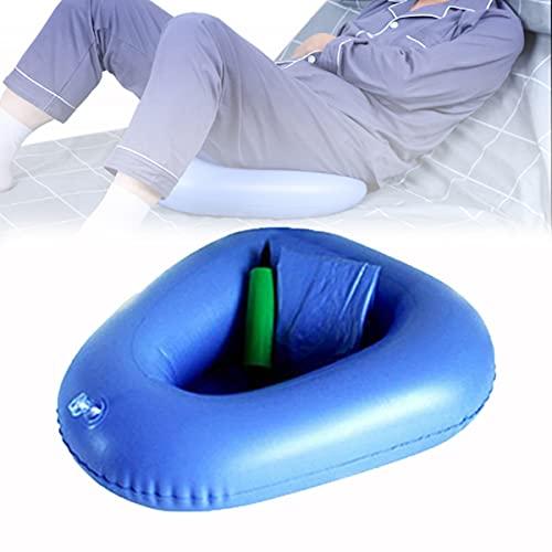 Cuscini d'aria gonfiabili Padella, bagno portatile Vasino da comodino Toilette orinatoi infermieristici per anziani costretti a letto paziente da decubito