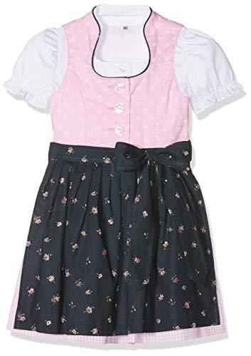 Berwin & Wolff Baby-Mädchen 586461 Kleid, Mehrfarbig (Rosa/Grau 1819), 74