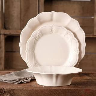12-Piece Microwave-safe Crackle Glaze Dinnerware Set (Linen)