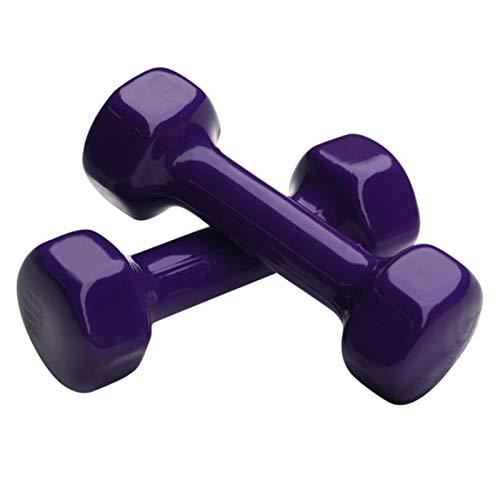 LUSTAR Par de Mancuernas Hexagonales de Neopreno, Pesos Morados 0.5KG 1KG 1.5KG 2KG 3KG 4KG 5KG, para Ajuste Muscular General y Brazo Delgado,Purple-(1KG*2)