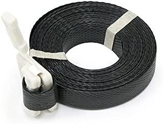 Chu's Packaging Supplies TQ1217BK Pre-Cut Polypropylene Strapping, Black, 0.5