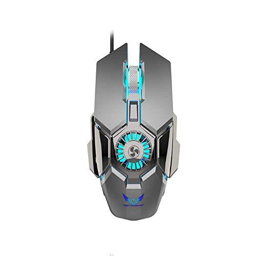 BYTCC Mouse Macro Programming Rgb Light-Emitting Mouse Optical Sensor-Four-Segment Dpi Adjustment