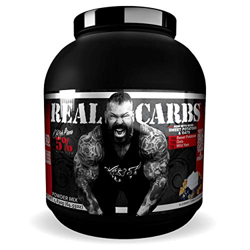 Rich Piana 5% Nutrition Real Carbs with Real Food Complex Carbohydrates, Long-Lasting Low Glycemic Energy for Pre-Workout/Post-Workout Recovery Meal, 65.6 oz, 60 Servings (Blueberry Cobbler)