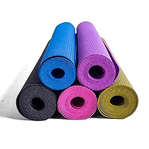 Gmefvr Exercise Yoga Mat Ultra Thin 1.5/2mm Very Light weight Multi Random Color For Men Women Kids