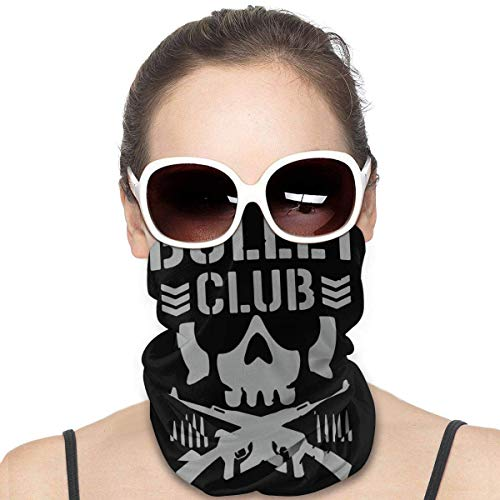 antoipyns Bullet Club Face Mask Windproof Tube Mask Bandana Headwear for Out Sport