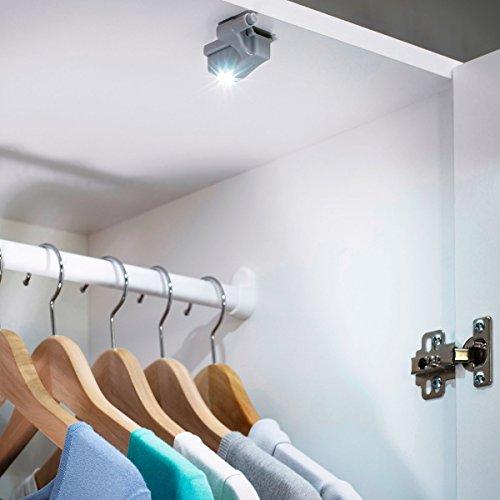 HEITRONIC LED Schrankleuchte mit Druckknopfschalter 2er Set