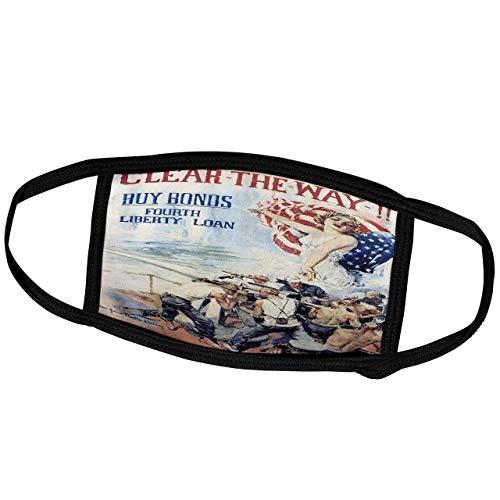 Promini BLN Poster mit Monatsüberzug – Vintage World War II und World War II – Vintage Clear The Way Buy Bonds Fourth Liberty Loan Poster – Staubschutz für den Außenbereich