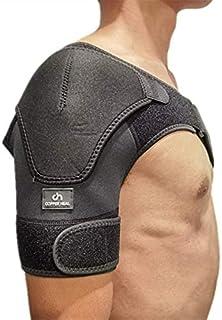COPPER HEAL - Shoulder Brace Adjustable Compression Sleeve Torn Rotator Cuff Men Women Stability support Immobilizer wrap ...