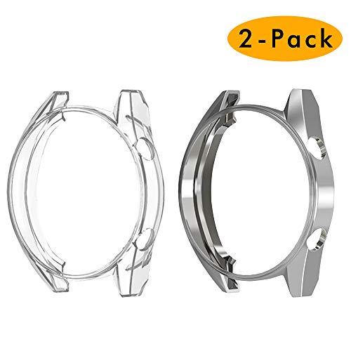 CAVN Schutzhülle Kompatibel mit Huawei Watch GT 46mm Schutzhülle [2-Stück], (Nicht für GT 2 46mm und 42mm) Soft TPU Kratzfest Schutzhülle Schale Shell Hülle für Huawei Watch GT Classic/Active