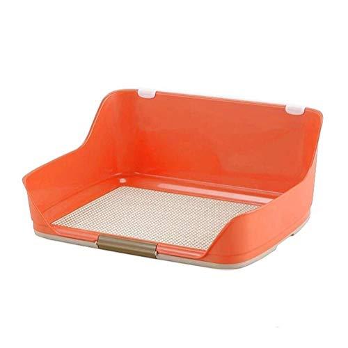 LT Haustier-Hundekatzentoilette, Innentrainings-Behälter-tragbarer Zaun Anti-Urin-Spritzen (Color : Orange, Size : M)