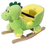BAKAJI Dinosauro a Dondolo Cavalcabile Peluche Giocattolo per Bambini con Effetti Sonori Maniglie e...
