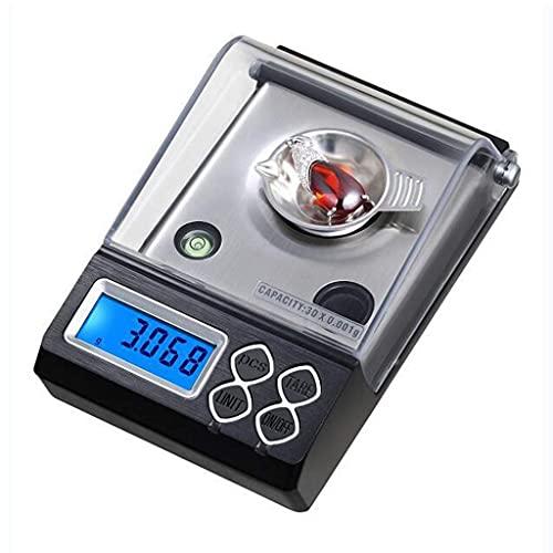 FYHH-JZHY Básculas De Cocina Digitales, 0.001G Mini Báscula Balanza Electrónica Doméstica De Alta Precisión Escala De Conteo De Quilates Báscula De Bolsillo Portátil (Tamaño: 30G / 0.001G)