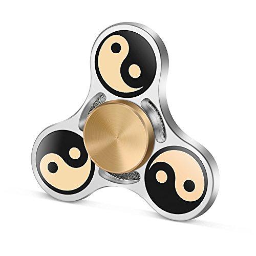 TOOBOM Fidget Spinner Qualità Premium Costruzione durevole NON stampato in 3D Spinning Fluido Giocattolo Silenzioso per Riduzione Stress (GL_TAIJI)